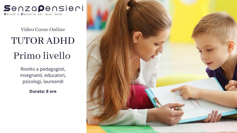 Tutor ADHD Primo Livello 2020
